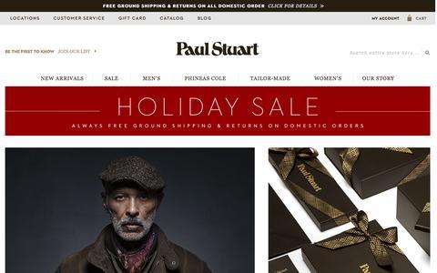 Screenshot of Home Page paulstuart.com - Paul Stuart - Fine Men's & Women's clothing - captured Dec. 6, 2015