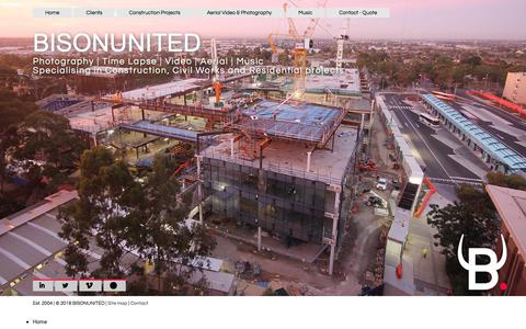 Screenshot of Site Map Page bisonunited.com - BISONUNITED - Sitemap | Construction | Long Term Time Lapse Camera | Industrial |Photography | Video | Drone | Music - captured Aug. 2, 2018