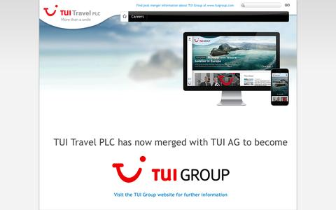 Screenshot of Home Page tuitravelplc.com - TUI Group - captured Oct. 7, 2015