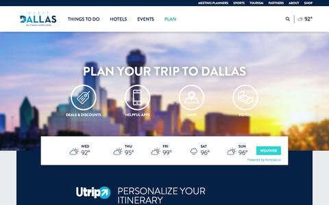 Screenshot of Maps & Directions Page visitdallas.com - Dallas Travel Guide: Plan Your Trip Today: VisitDallas - captured June 29, 2017