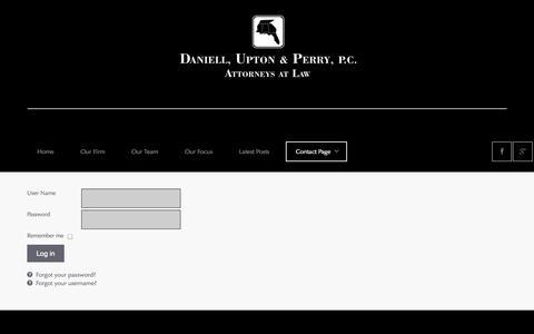Screenshot of Login Page daniellupton.com - Login - captured Oct. 5, 2014