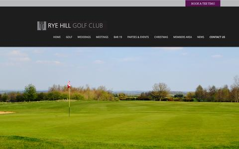 Screenshot of Maps & Directions Page ryehill.co.uk - Rye Hill Golf Club :: Directions - captured Oct. 6, 2014