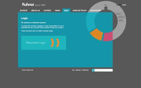Screenshot of Login Page kuhner.com - login - shaker - captured Nov. 2, 2014