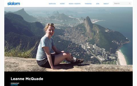 Screenshot of Team Page slalom.com - Leanne McQuade | Slalom - captured Jan. 20, 2018