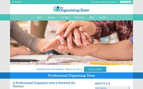 Screenshot of Team Page theorganizingzone.com - Professional Organizer, The Organizing Zone - captured Dec. 1, 2016