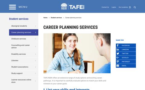 Career planning services - TAFE