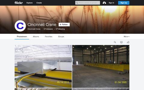 Screenshot of Flickr Page flickr.com - Cincinnati Crane | Flickr - Photo Sharing! - captured Nov. 11, 2015
