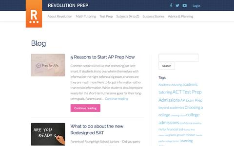 Blog - Revolution Prep