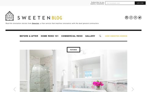 Screenshot of Blog sweeten.com - Sweeten Blog | Renovation stories, tips, and inspiration - captured Sept. 21, 2018