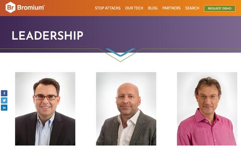 Screenshot of Team Page bromium.com - Meet our Leadership Team - Bromium - captured April 10, 2018