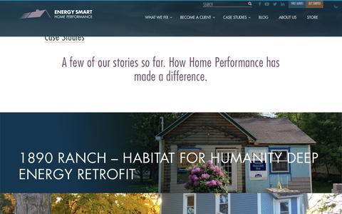 Screenshot of Case Studies Page energysmartohio.com - Case Studies - Energy Smart Home Performance - captured Aug. 8, 2017