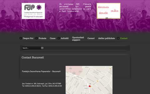 Screenshot of Contact Page fdpsr.ro - Contact Bucuresti - captured Oct. 6, 2014