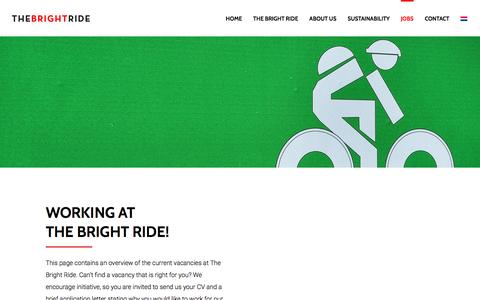Screenshot of Jobs Page thebrightride.com - Working at TBR - The Bright Ride - captured Dec. 12, 2016