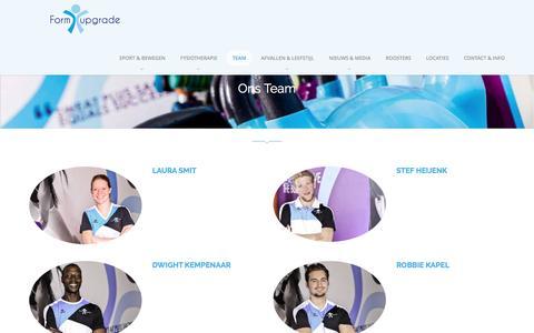 Screenshot of Team Page formupgrade.nl - Ons Team – Formupgrade - captured Jan. 14, 2017