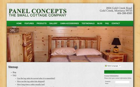 Screenshot of Site Map Page panelconcepts.com - Sitemap - captured Oct. 1, 2014