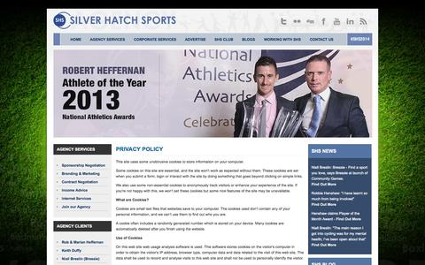 Screenshot of Privacy Page silverhatchsports.com - Privacy Policy - Silver Hatch Sports - captured Sept. 30, 2014