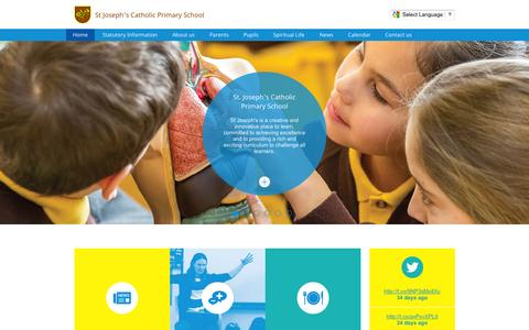 Screenshot of Home Page stjosephs775.herts.sch.uk - St Joseph's Catholic Primary School | A catholic primary school for children aged 3-11 - captured Aug. 6, 2015