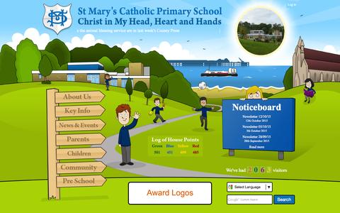 Screenshot of Home Page stmaryrcpri.iow.sch.uk - Home | St Mary's Catholic Primary School - captured Oct. 14, 2015