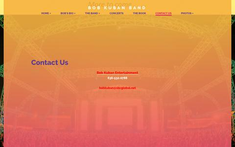 Screenshot of Contact Page bobkuban.com - Bob Kuban Band - Contact Us - captured Oct. 30, 2018