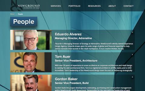 Screenshot of Team Page newground.com - People   Welcome to NewGround - captured Sept. 23, 2014