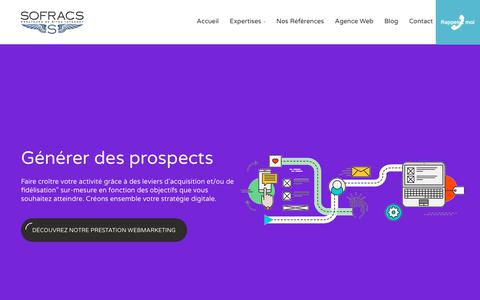 Screenshot of Home Page sofracs.com - Création de site internet, création e-commerce, agence web Paris - captured Oct. 22, 2018