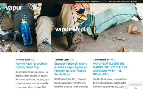 Screenshot of Press Page vapur.us - Blog : Vapur - captured Oct. 2, 2018