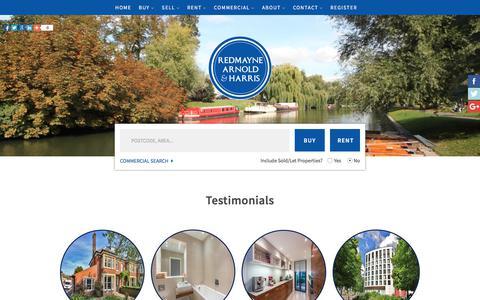 Screenshot of Testimonials Page rah.co.uk - Estate Agents Cambridge   Testimonials   Redmayne Arnold & Harris - captured Oct. 25, 2017