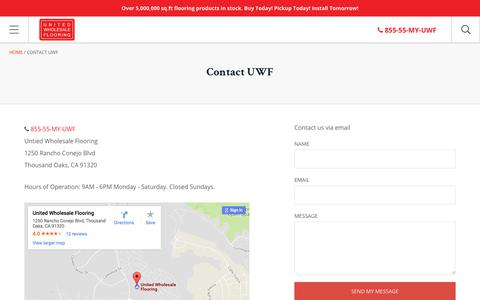 Screenshot of Contact Page Locations Page unitedwholesaleflooring.com - Contact UWF – United Wholesale Flooring - captured Nov. 5, 2017