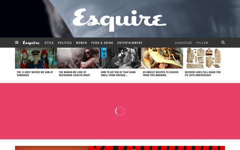 Screenshot of Home Page esquire.com - Esquire - Men's Fashion, Cocktails, Politics, Interviews, and Women - captured Feb. 1, 2016