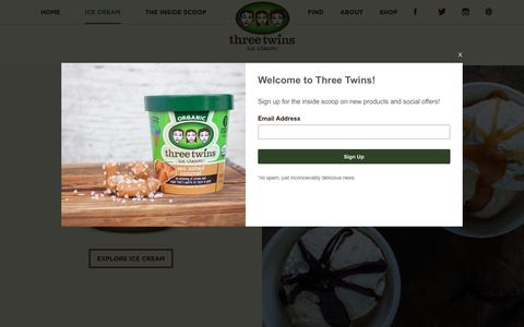 Screenshot of Products Page threetwinsicecream.com - Three Twins Ice CreamProducts - Three Twins Ice Cream - captured April 13, 2016
