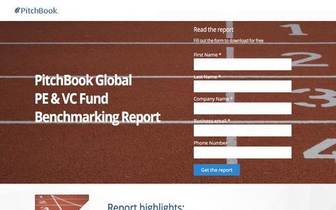 Screenshot of Landing Page pitchbook.com - PitchBook 2017 Global PE & VC Fund Benchmarking: Part I - captured April 20, 2017