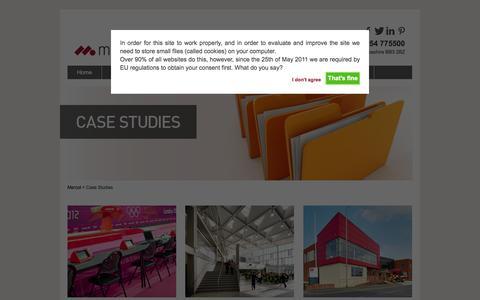 Screenshot of Case Studies Page mercol.co.uk - Case Studies | Mercol - captured Oct. 27, 2014