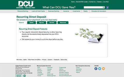 Direct Deposit | DCU | Massachusetts | New Hampshire