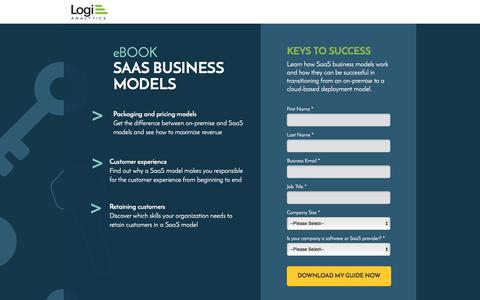 Screenshot of Landing Page logianalytics.com - SaaS Business Models for App Success Ebook | Logi Analytics - captured March 10, 2016
