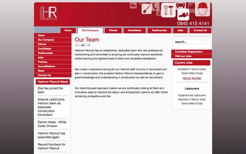 Screenshot of Team Page harbronrecruit.co.uk - Our Team - captured Oct. 2, 2014