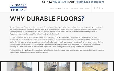 Screenshot of About Page durablefloors.com - Why Durable Floors - Durable Floors - captured June 5, 2017