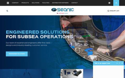 Screenshot of Home Page seanicusa.com - Seanic Ocean Systems | Home - captured Sept. 24, 2018