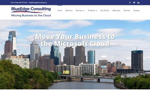 Screenshot of Home Page blueedgeconsulting.com - BlueEdge Consulting - captured Oct. 10, 2017