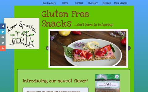 Screenshot of Home Page livinspoonful.com - Livin' Spoonful - Gluten Free Snacks - captured Oct. 3, 2014