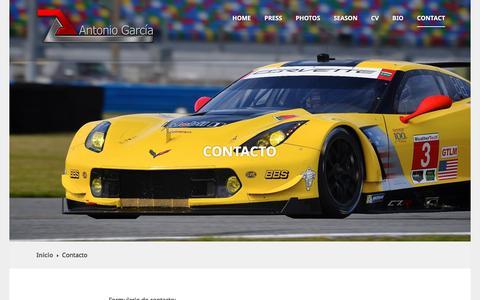 Screenshot of Contact Page wordpress.com - Contacto | - captured Feb. 28, 2017
