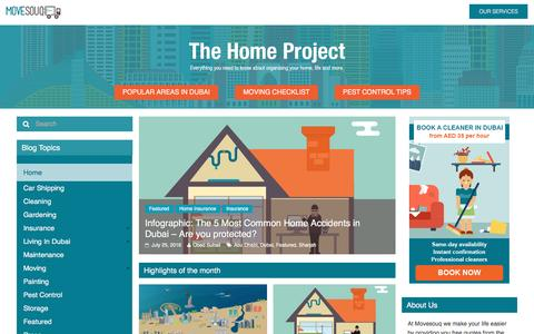 Screenshot of Blog movesouq.com - Home - The Home Project | MoveSouq - captured Sept. 2, 2016