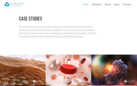 Screenshot of Case Studies Page polygonmedical.com - Medical Animation Work — Polygon Medical Animation - captured Dec. 15, 2018