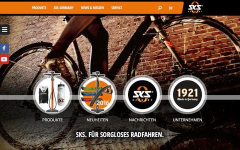 Screenshot of Home Page sks-germany.com - Startseite - SKS-Germany - captured Nov. 12, 2015