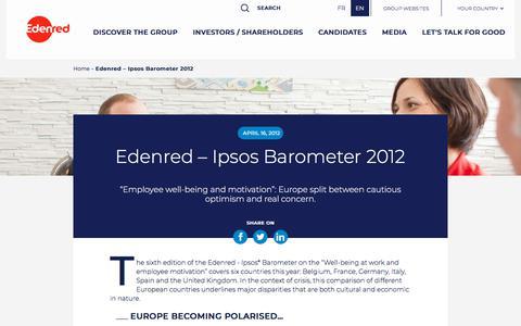 Screenshot of Press Page edenred.com - Edenred – Ipsos Barometer 2012   Edenred - captured July 8, 2019