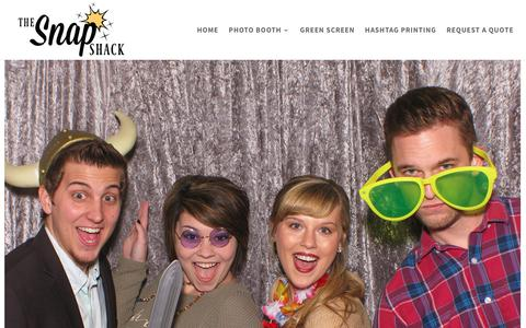 Screenshot of Home Page thesnapshack.com - The Snap Shack Photo Booth Rental: Jackson TN, Wedding Receptions - captured Nov. 17, 2017