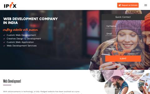Screenshot of Services Page ipixtechnologies.com - Web Development Company India, Best Website Development Company - captured Nov. 6, 2018