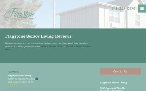 Screenshot of Testimonials Page milestoneretirement.com - Senior Living Resources | Flagstone Senior Living - captured Jan. 25, 2017