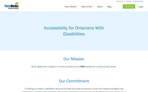Accessibility for Ontarians With Disabilities | FreshBooks