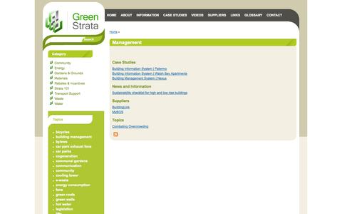 Screenshot of Team Page greenstrata.com.au - Management | Green Strata - captured Oct. 1, 2014