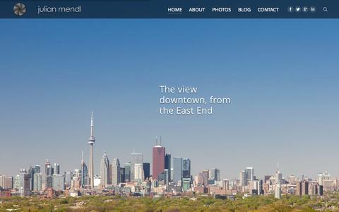 Screenshot of Home Page mendl.ca - Julian Mendl | Julian Mendl, Photographer - captured Jan. 25, 2015